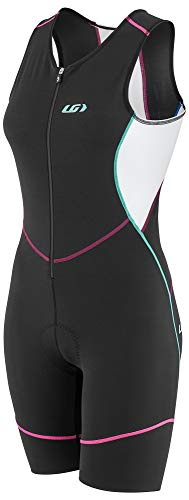Louis Garneau Women's Tri Comp Breathable, Padded, Sleeveless Triathlon Cycling Suit, Multicolor, Medium ()