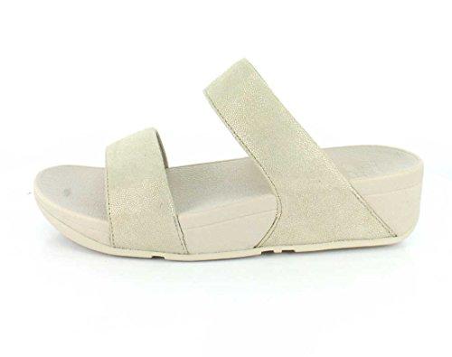 Shimmy Suede Slide Sandals Fitflop Femmes - or pâle