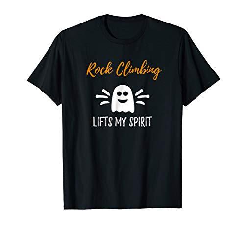 Rock Climbing Lifts My Spirit T-Shirt Funny Halloween Gift