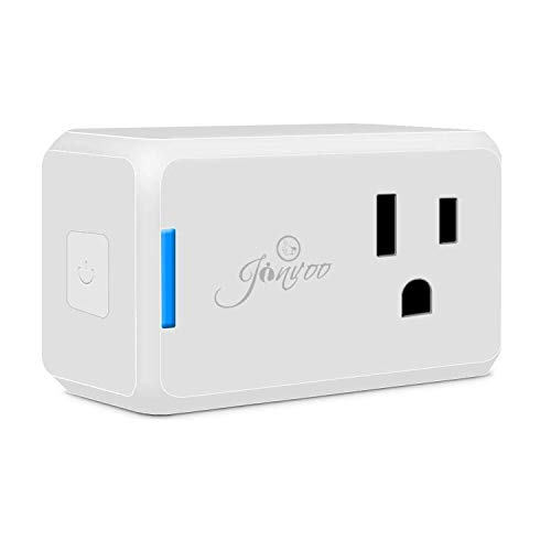 Jinvoo Wi-Fi Smart Plug Wireless Mini Outlet with Schedule,Remote Control your Devices,Occupies Only One Socket, Compatiable with Alexa Echo, Works with Google Home