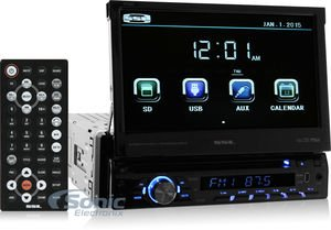 Sound Storm Labs SD726MB Single Din Touchscreen Bluetooth DVD CD MP3 USB SD AMFM Car Stereo 7 Inch Digital LCD Monitor Detachable Front Panel by Sound Storm Laboratories