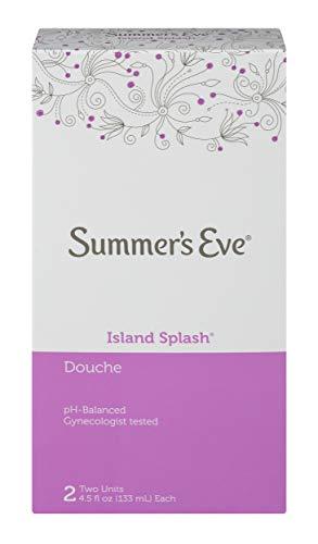 - Summer's Eve Douche, Island Splash, pH Balanced, Dermatologist & Gynecologist Tested, 4.5 Fl Oz, 18 Fl Oz per pack, Pack of 6