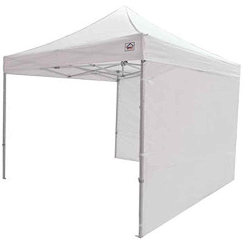 - Impact Canopy 10' x 10' Instant Pop-Up Canopy Tent, Sun and Rain Shelter with Sidewalls and Aluminum Frame, White