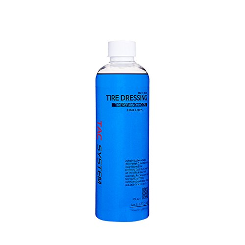 TAC Systems Tire Dressing 500ml - Long Lasting High Gloss Finish, Easy to Apply to Tyres