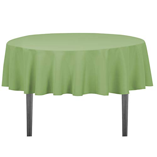 LinenTablecloth Round Polyester Tablecloth, 70-Inch, Reseda