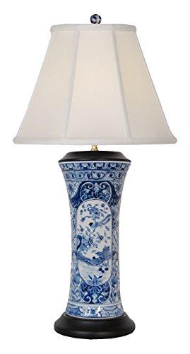 East LPBWK1012L Table Lamp, Blue/White