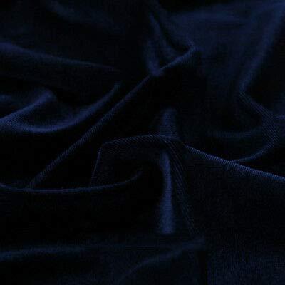 (FidgetFidget Thick Velvet Fabric for Dress Cloth Upholstery Background DIY Tablecloths Navy Blue)