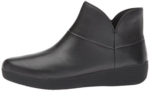 FitFlop Women's Supermod II Leather Ankle Boot, All Black, 11 M US by FitFlop (Image #5)