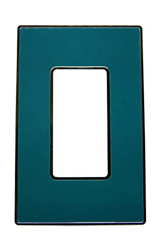 - Urban Chameleon-New Idea-2-Piece Type Light Switch Plate, Decorative 1-Gang Rocker Cover Chrome Plate with Removable, Reusable, Easy Color Change Skin and Hidden Screws (Forest Green)