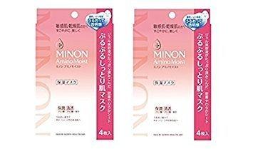 [Minon Amino Moist Purupuru moist skin mask 22mL × 4 sheets(Pack of 2)] (Minion Mask)