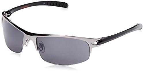 Dockers Men's Smoke 10221280.KHL Wrap Sunglasses, Gun, 62 - Docker Sunglasses