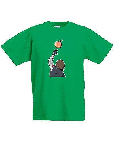 Peachy, Kids Printed T-Shirt - Kelly Green/Transfer 9-11 Years (X Men Cyclops Mask)
