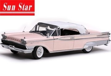 - 1959 Mercury Park lane Closed Convertible White/Bermuda Sand,Pink 1/18 Sunstar 5165