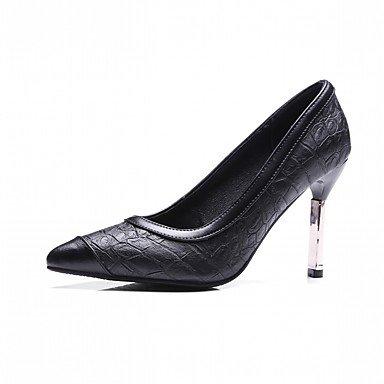 Zormey Tacones Mujer Primavera Otoño Comfort Polipiel Parte &Amp; Vestido De Noche Stiletto Talón Casual Negro Borgoña US10.5 / EU42 / UK8.5 / CN43