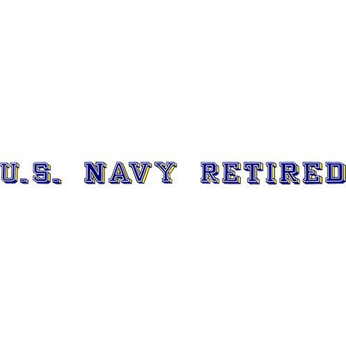 Navy Retired Decal - U.S. Navy Retired Clear Window Strip