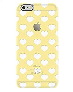 Cover Uncommon Flutter Hearts Yellow, iphone 6 Clear Deflector