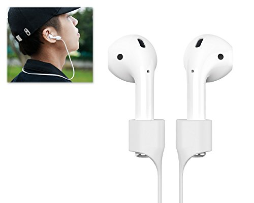 - Ace Select Magnetic Closure Anti-lost Strap for AirPods Sport Protective Silicone Lanyard for Apple Wireless Headphone - Offwhite