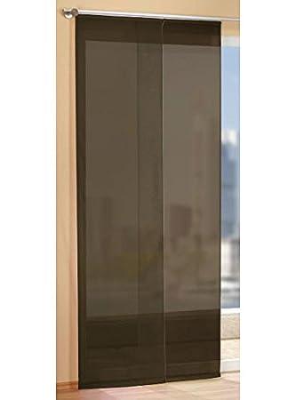 Braun Flächenvorhang Schiebegardine mit Zubehör 245x60