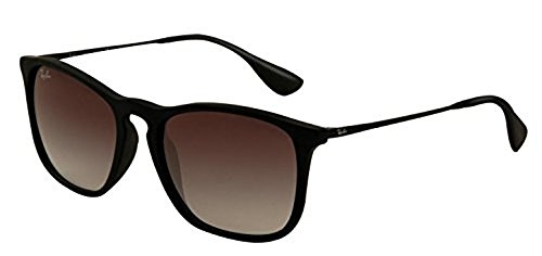 Ray-Ban Chris RB 4187 Sunglasses Rubber Black / Grey Gradient 54mm & HDO Cleaning Carekit - Ban 4187 Ray