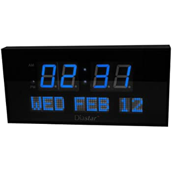 Amazoncom Diastar Big Oversized Digital LED Calendar Clock with