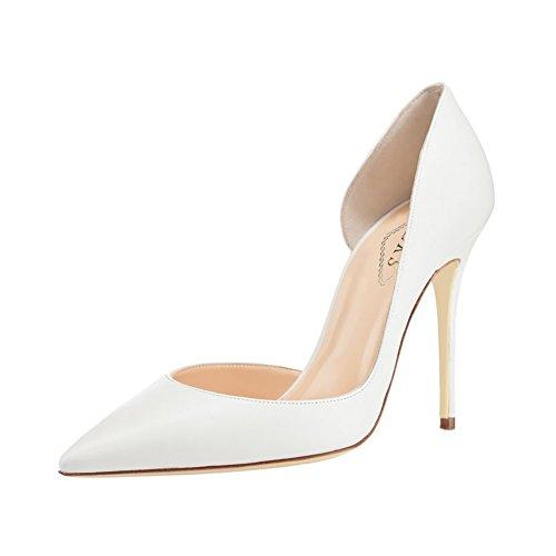 EKS - Zapatos de tacón fino Mujer White-matte