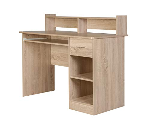 OneSpace 50-LD01LO Essential Computer Desk, Light Oak