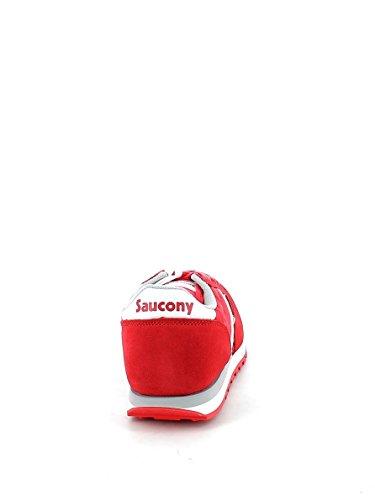 Saucony SY58803 Jazz Silbergrau Mädchen Mädchenschuhe Schnürsenkel Rot