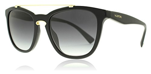 Valentino Women's VA 4002 Black/Light Gold/Grey Gradient Sunglasses