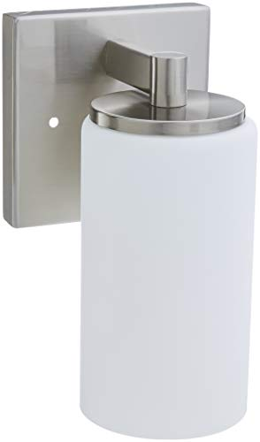 - Sea Gull Lighting 4139101-962 Hettinger One Light Wall / Bath Sconce Vanity Style Lights, Brushed Nickel Finish