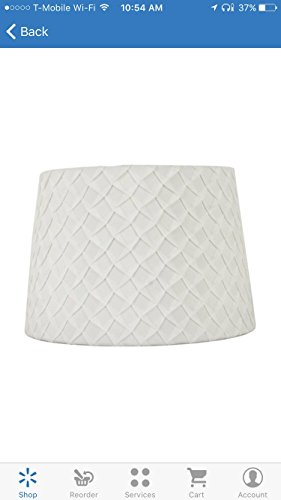 white pleated table shade