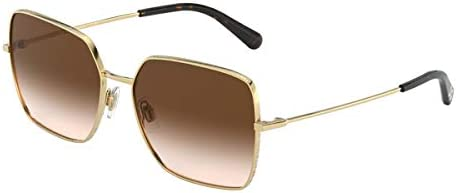 Dolce & Gabbana Lunettes de Soleil SLIM DG 2242 GOLD/BROWN SHADED 57/16/140 femme