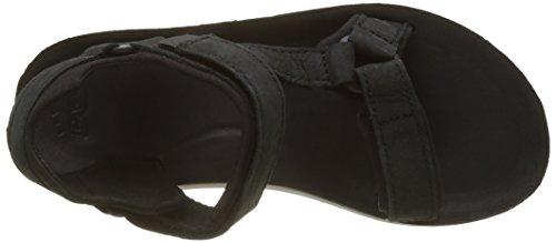 Teva W Original Universal Premier-Leather, Sandalias de Punta Descubierta Para Mujer Negro (Black)