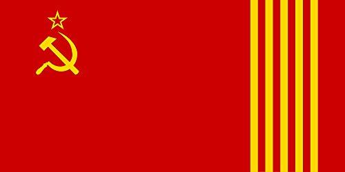 DIPLOMAT-FLAGS Republica socialista sovietica catalana Bandera | bandera paisaje | 0.06m² | 17x34cm Banderas de Coche