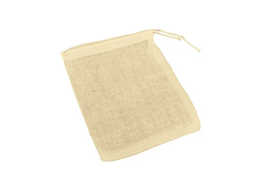 50 Pc 3 x 4' Natural Muslin Drawstring Bags | Small Ivory, Light Tan Muslin Bags for Party Favors, Gifts & Goodies | Safe, Non-Toxic, 100% Cotton Woven Bags w/ Drawstring Closure (Pack of 50)