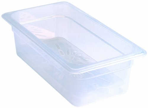 Cambro 30PPD190 1/3 Size Polycarbonate Drain Shelves, Translucent (6/Case) by Cambro