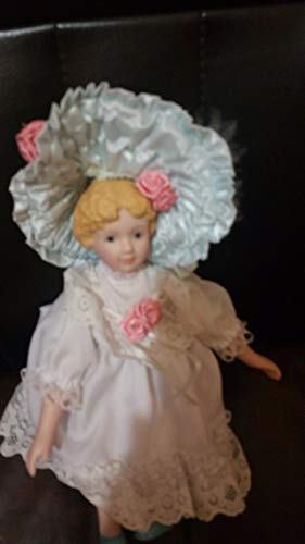 (Baby Porcelain doll cloth body and partial limbs by Hamilton 8