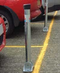 Autopa Hinged Lockable Parking Post KD by AUTOPA (Image #1)