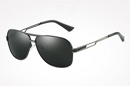 Sol Gris UV400 gray Alta Sol Masculinos Gafas Sunglasses gray Retro TL Calidad Negro Vintage Cuadrados Hombres el para Hombres Tonos de Oro Guía de de Lentes Gafas wFRRqntS