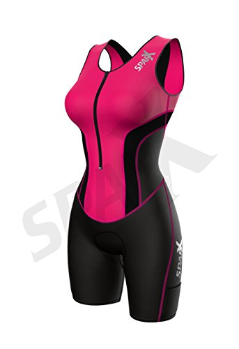 Sparx Women Triathlon Suit Tri Short Racing Cycling Swim Run (Small, Pink) by Sparx Sports (Image #1)