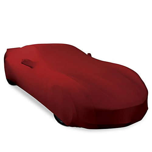 Fit Indoor Car Cover - 2014-2019 C7 Stingray, Z51, Z06, Grand Sport Corvette Ultraguard Stretch Satin Indoor Car Cover (Dark Red)