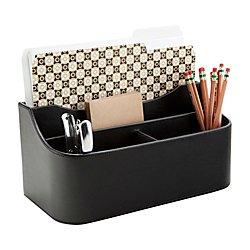 See Jane Work(R) Faux Leather Desk Valet, Black