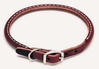 Coastal Pet Products 2205 Leather Latigo Round Dog Collar, 5/8 by 16-Inch