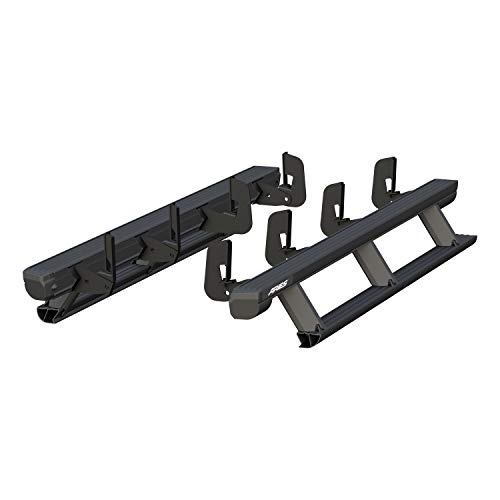 ARIES 3047902 ActionTrac Truck Powered Running Boards with Retractable, Electric Side Steps Black 79-Inch Fits Select Chevrolet Silverado, GMC Sierra 1500, 2500, 3500 Crew Cab
