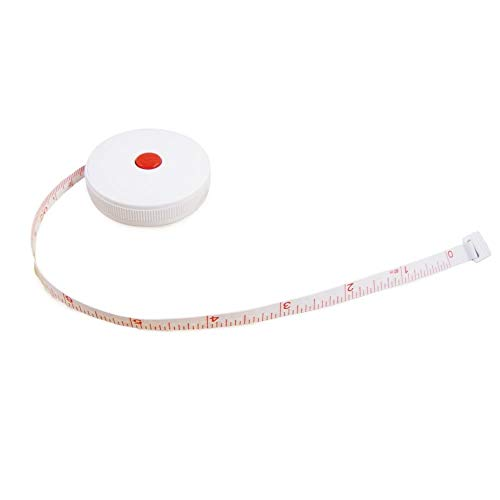 (5 Foot Retractable Compact Tailors Sewing Measuring Tape (Inches & CM))