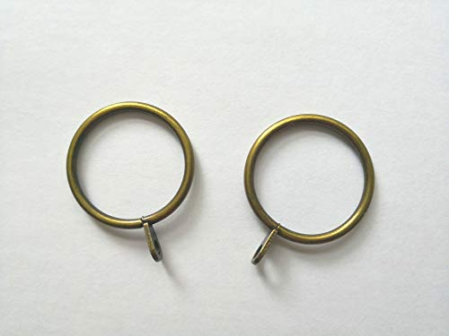 - Curtainsville 28 pcs Curtain Rod Ring, Drapery Rings, with Eyelets 1.18