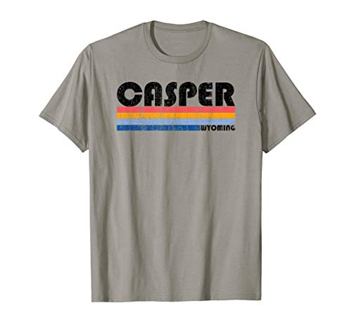 Vintage 70s 80s Style Casper, Wyoming T-Shirt
