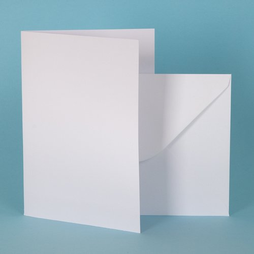 A6 Bright White Card Blanks 250gsm with Envelopes (200 pack) The Paperbox