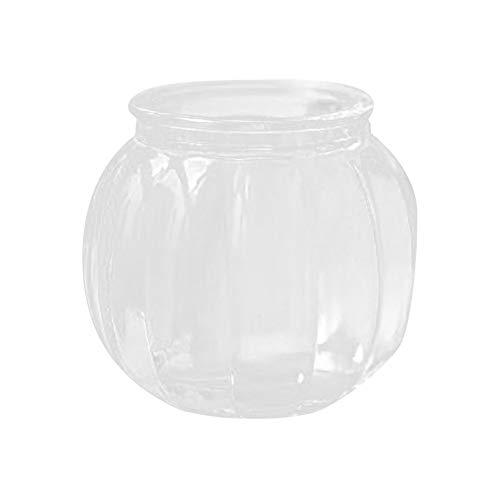 Islandse Hanging Glass Ball Vase Flower Plant Pot Pumpkin Container Party Home Decor Black]()