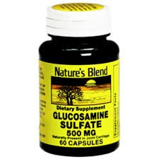 Nature`s Blend Glucosamine Sulfate 500mg Capsules 60 CT (PACK OF 2)