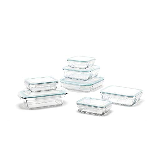 Glasslock Kit - Glasslock Microwave Safe Glass Food Storage Bakeware Containers 14 Piece Set